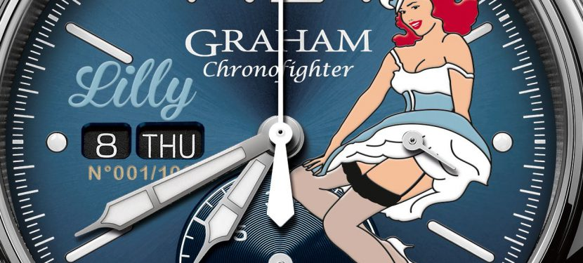 Pin-up lányok  – Graham Chronofighter Vintage Nose Art