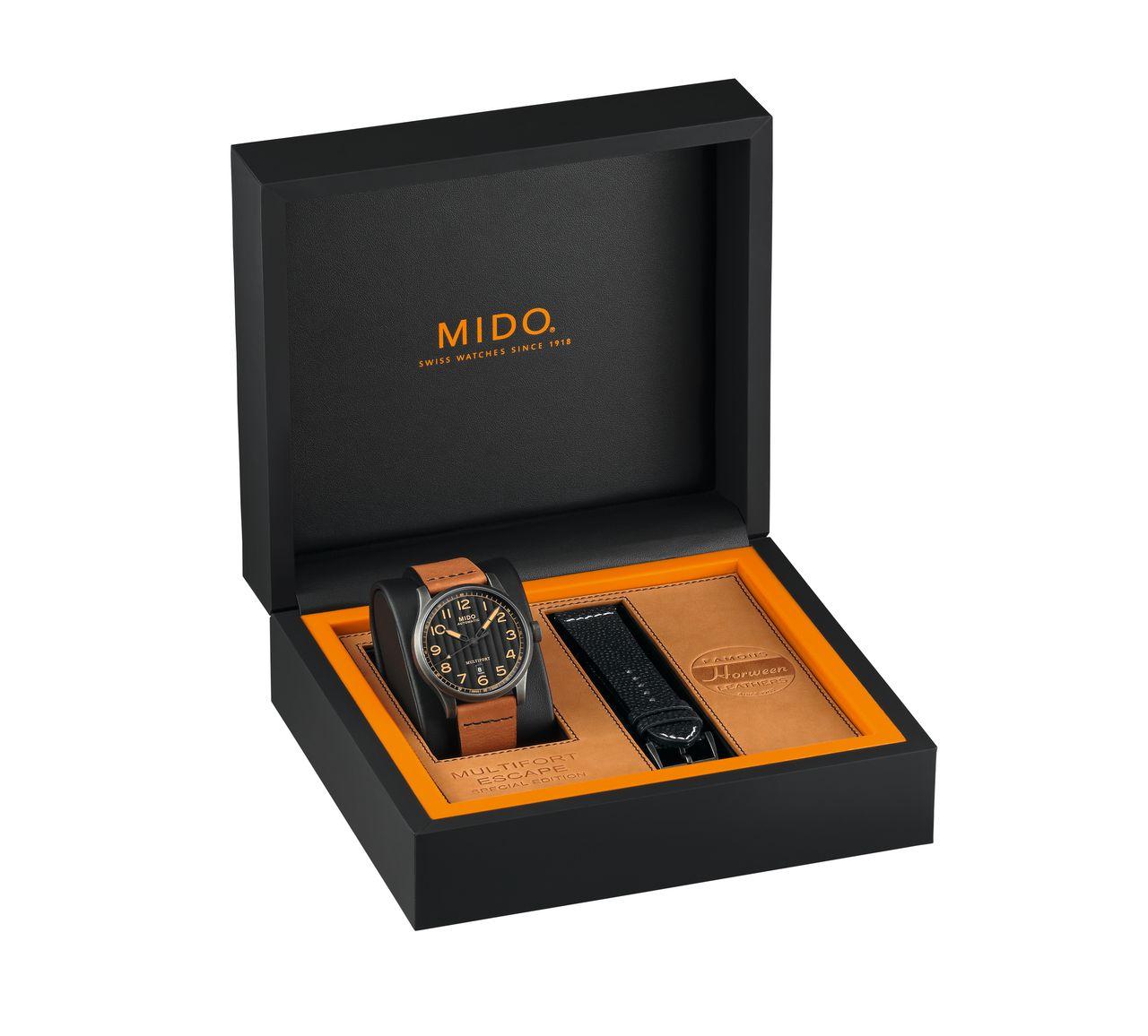 Mido Multifort Escape Horween Special Edition - alapból jár egy kiegészítő szíj az órához