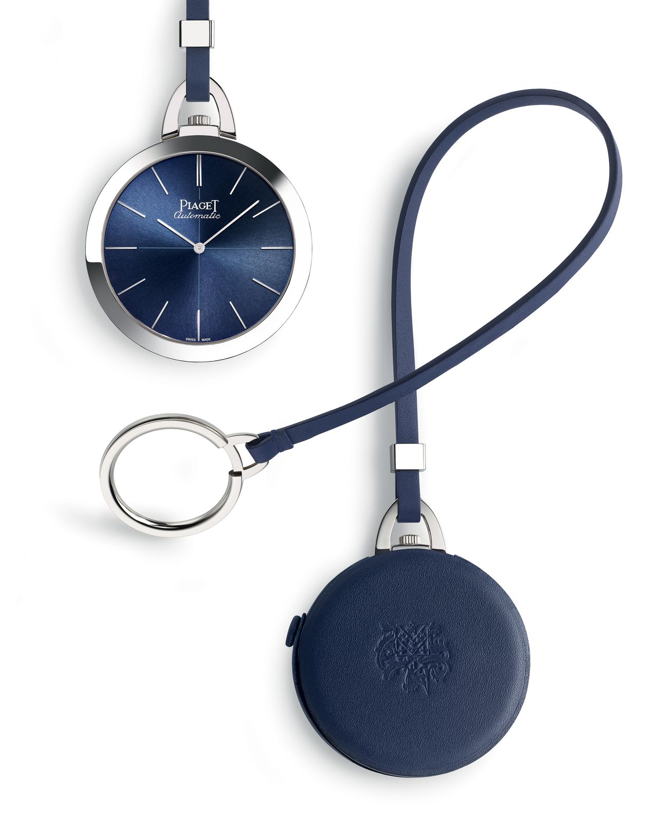 Piaget Altiplano 60th Anniversary Pocket Watch - kék tok marhabőről