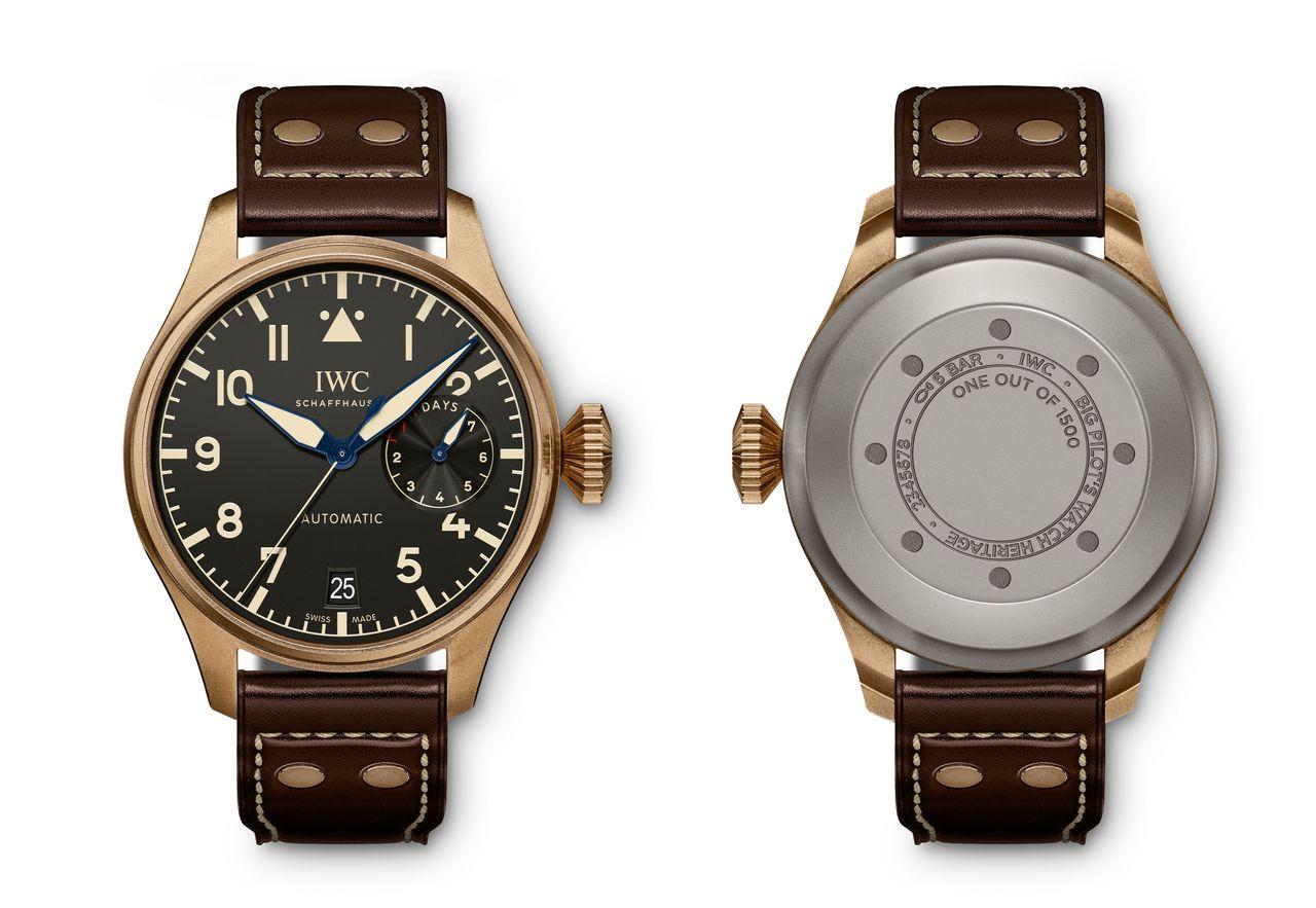 IWC Big Pilot's Watch Heritage - az IW501005 referenciaszámú bronz modell 1500 példányra limitált