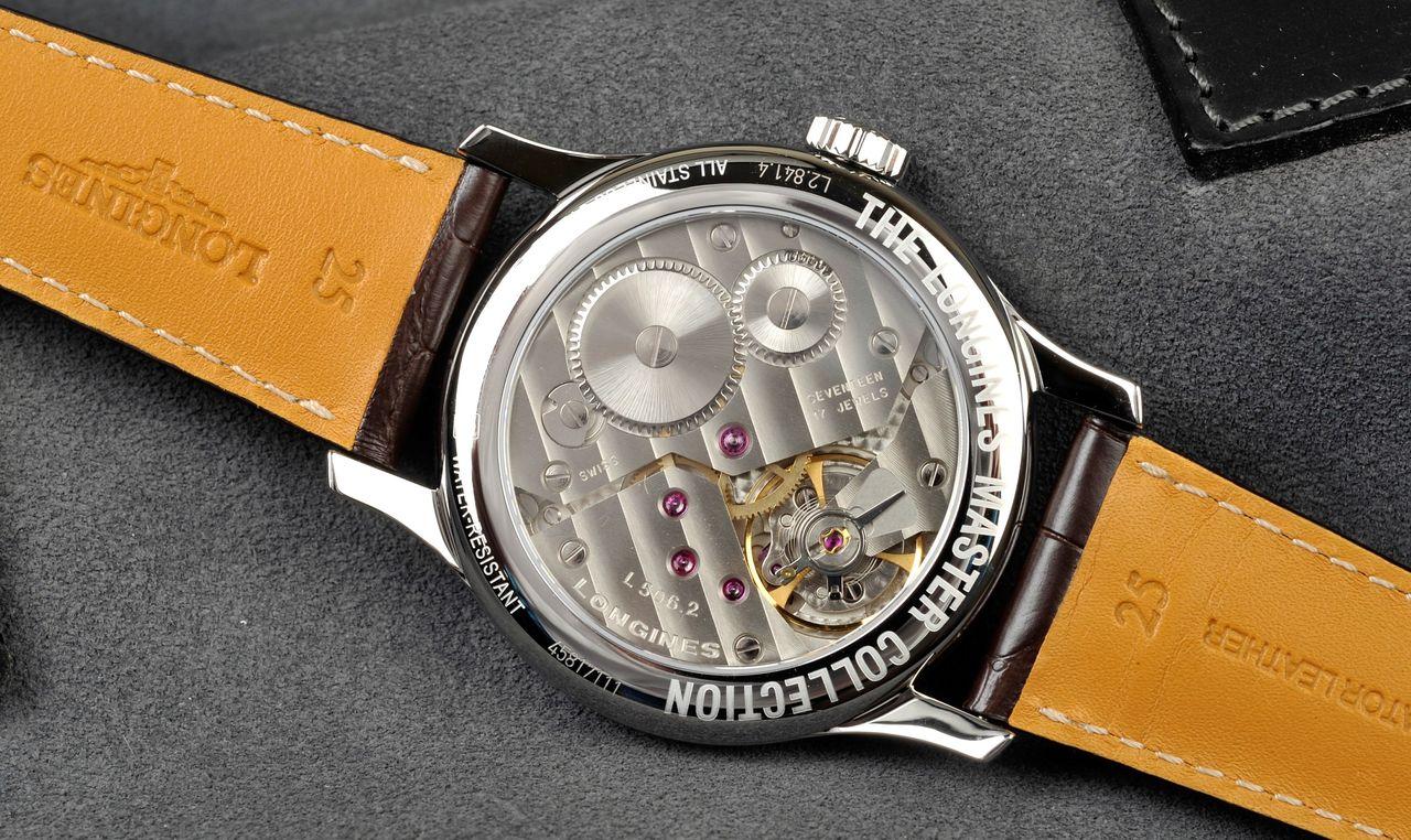 Longines Master Collection L2.841.4.18.5 - a jellegzetes Unitas avagy L506-2 külső fogad a hátlapon / Fotó: Venicz Áron