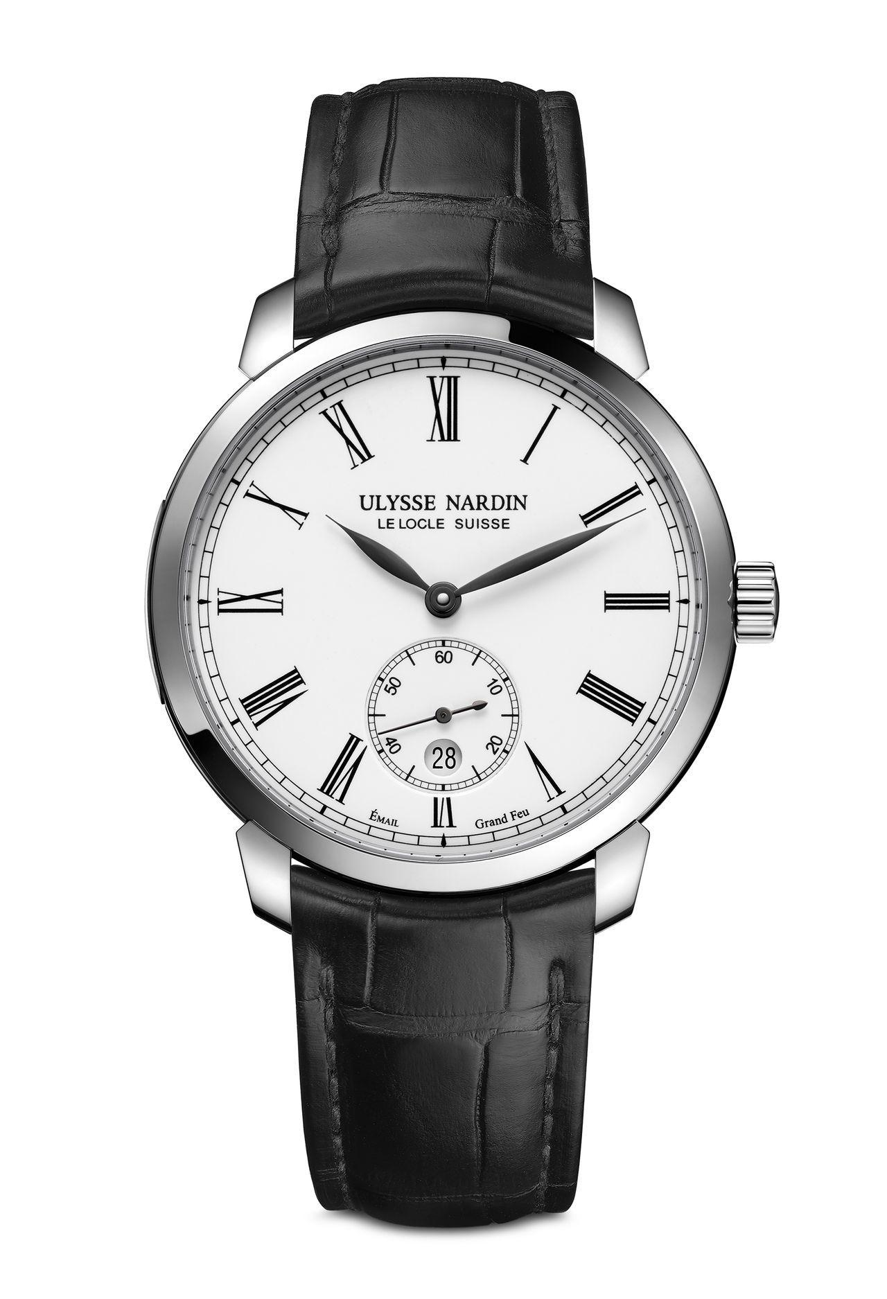 Ulysse Nardin Classico Manufacture Grand Feu - csak klasszikusan fehér tűzzománc számlappal