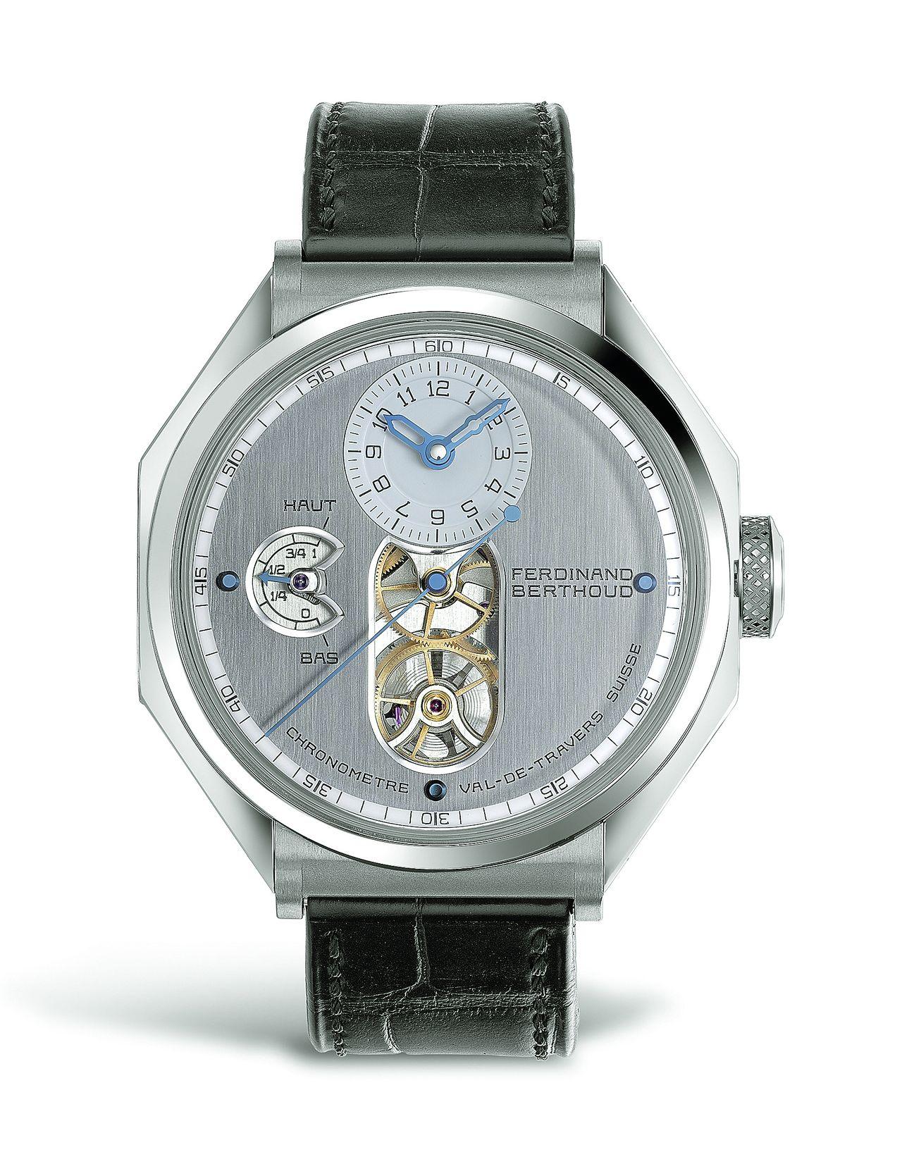 Nyolcszögletű órák - 11. Ferdinand Berthoud FB1, egy igazi ritkaság, a tengeri kronométerek által ihletett, nyolcszögletű tokban.