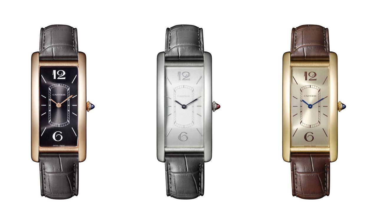Cartier Tank Cintrée -középen a 100 darabos limitált platina változat