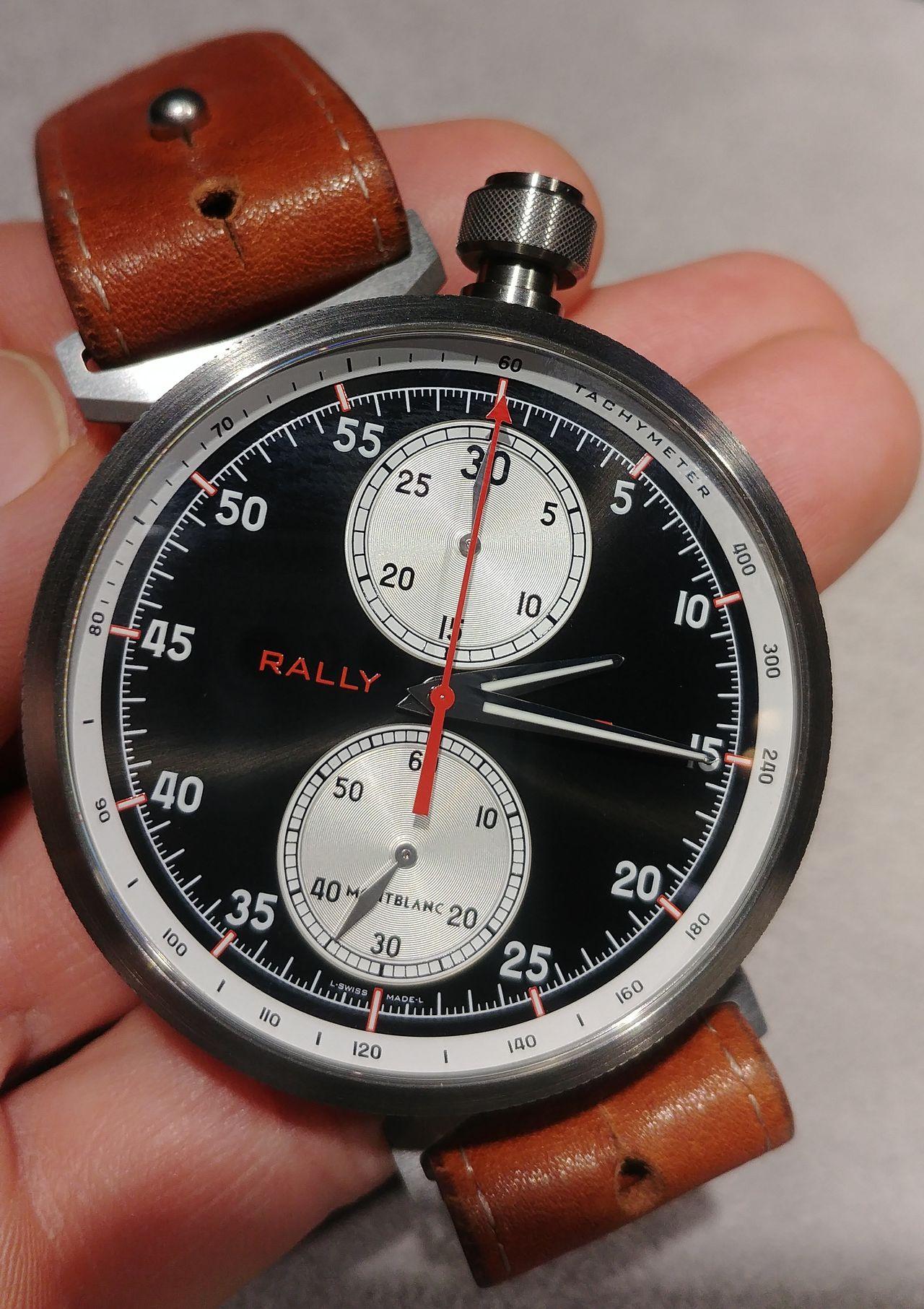Montblanc TimeWalker Rally Timer Chronograph Limited Edition 100 - kézbe véve meglepő a mérete