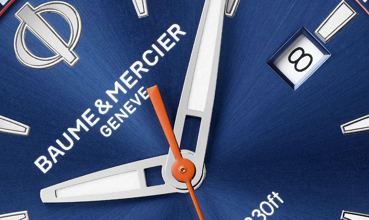 Baume & Mercier Clifton Club Quartz - a kék komplementer színe lett a másodpercmutató színe is