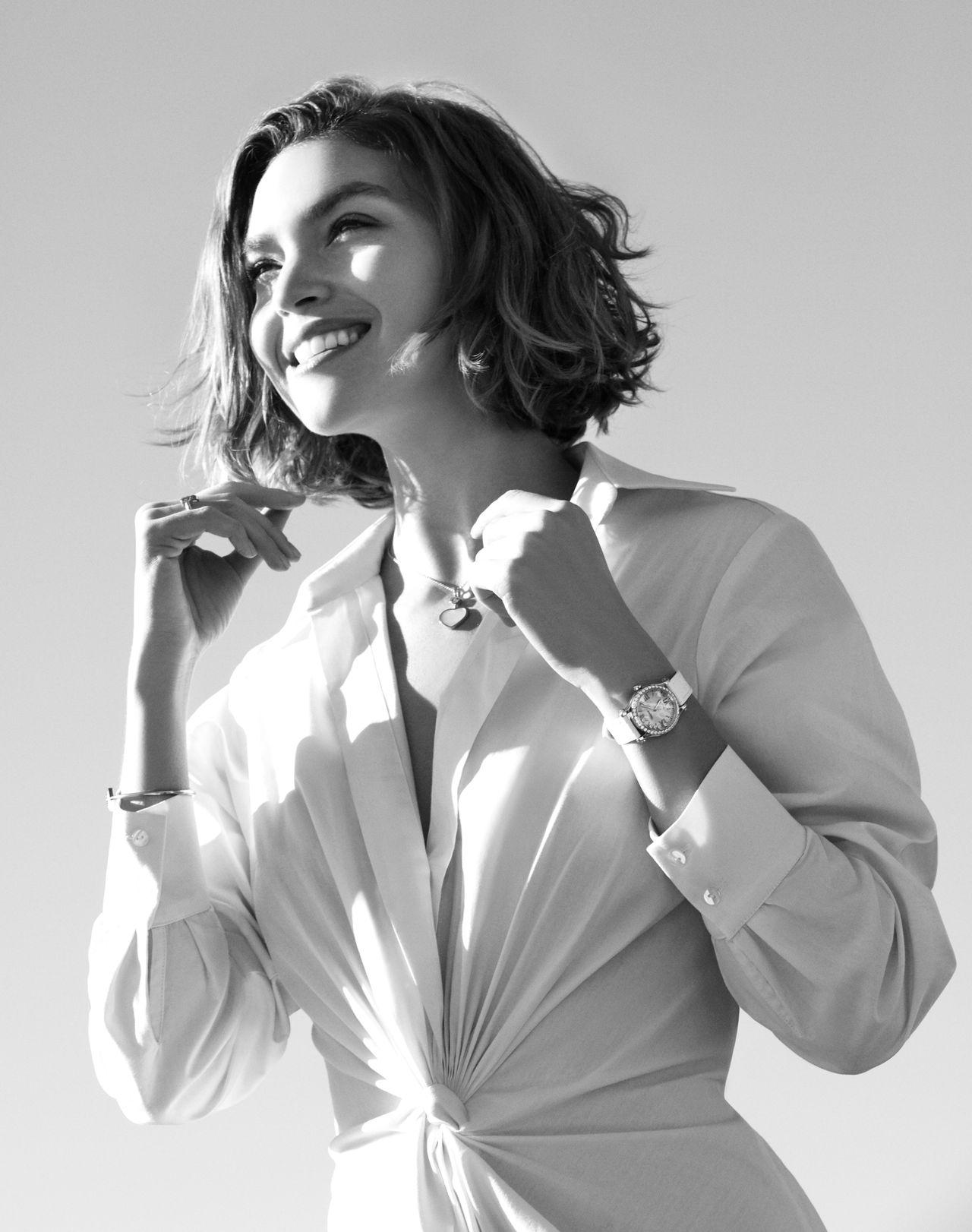 Chopard Happy Sport - Arizona Muse divatmodell egy Happy Sporttal a csuklóján