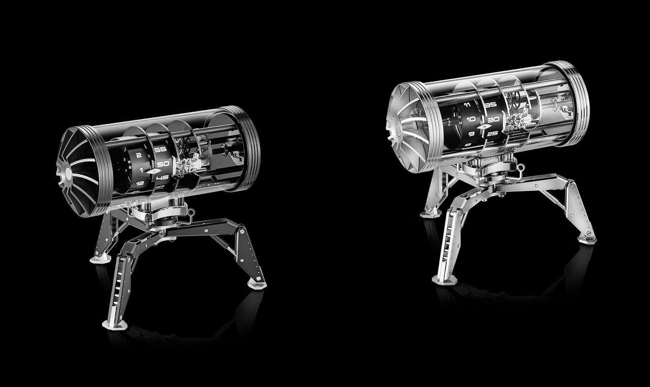 L'Epée 1839 Time Machine: csupa ezüstben (ródiumozott) és fekete-ezüst színben is kapható