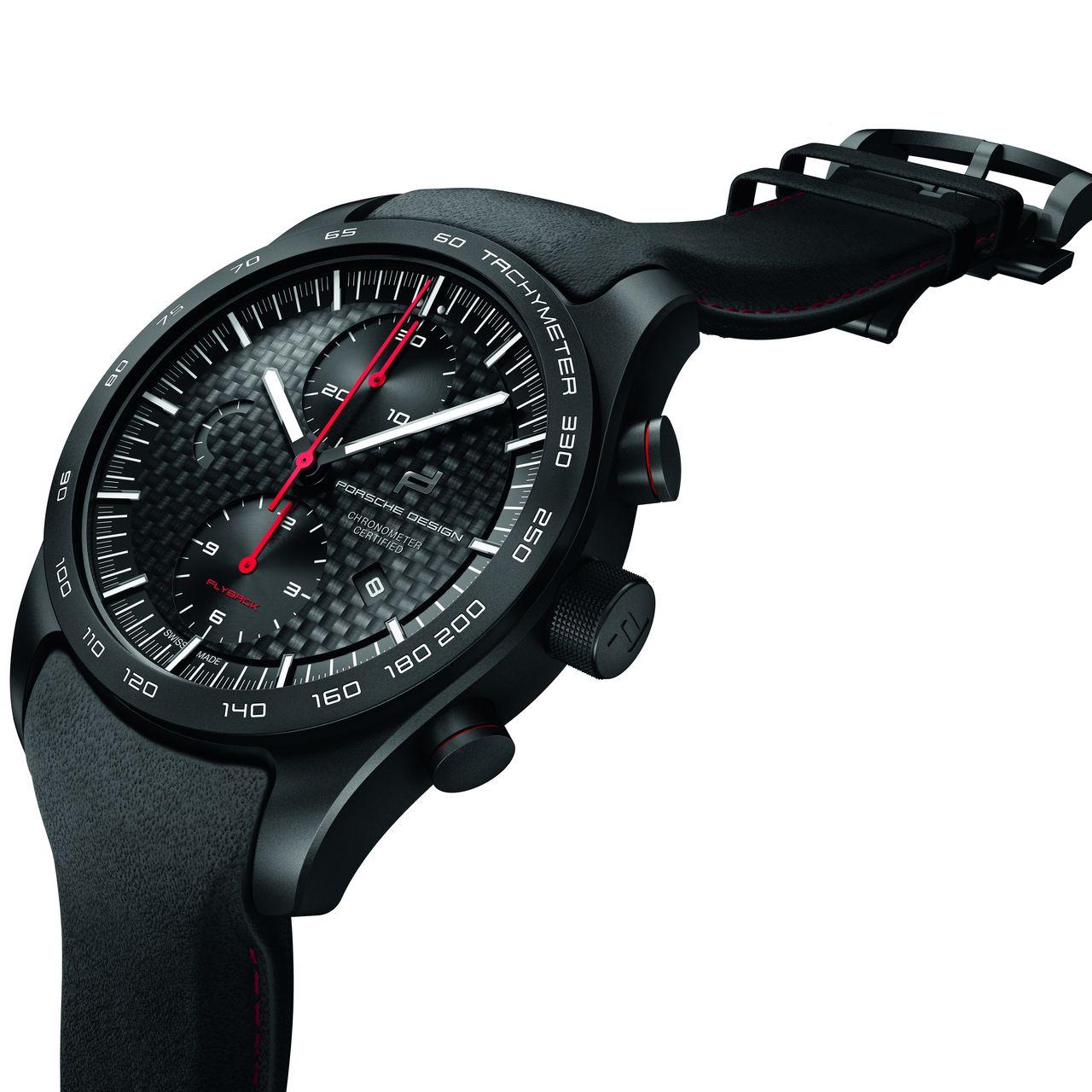 Porsche Design Chronotimer Flyback Special Edition - szokásos Porsche Design arculat: titán, fekete és kronográf
