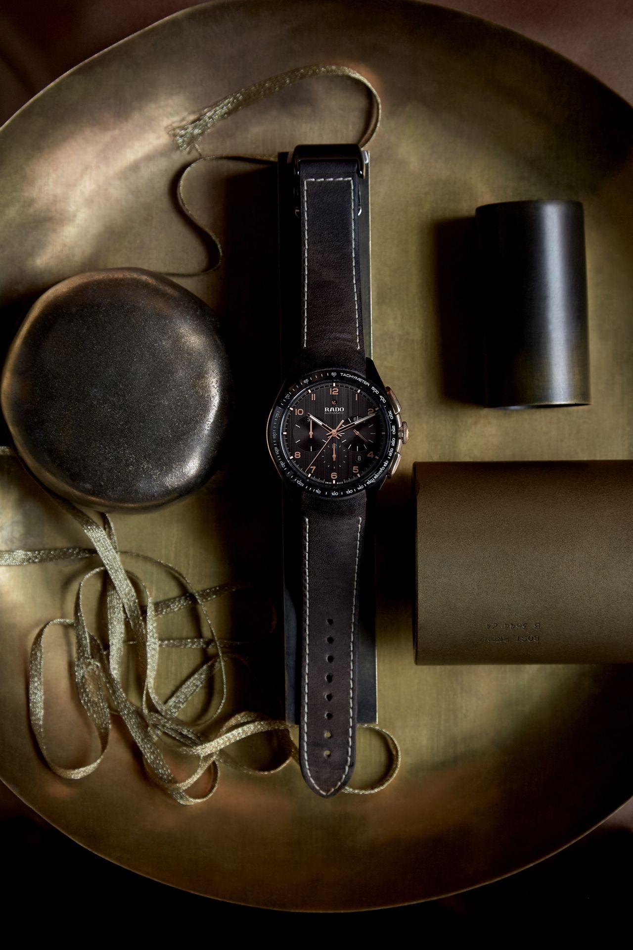 Rado HyperChrome Chronograph Automatic Bronze - csak a tok oldali kaptak betétet bronzból