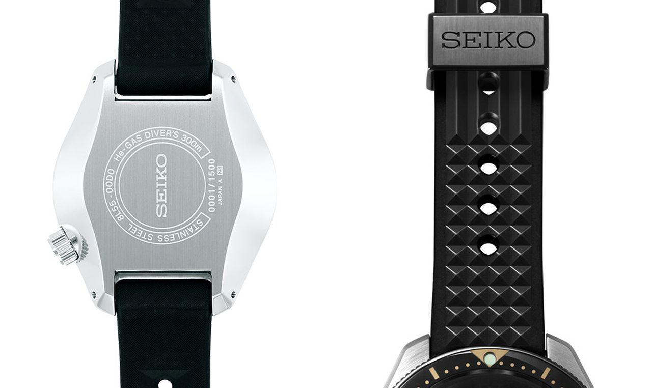 Seiko SLA025 - teljesen lapos hátlap és jellegzetes szilikonszíj