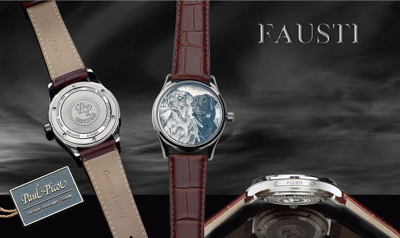 Fausti óra - a számlap anyaga arany vagy ezüst a szokásos réz helyett