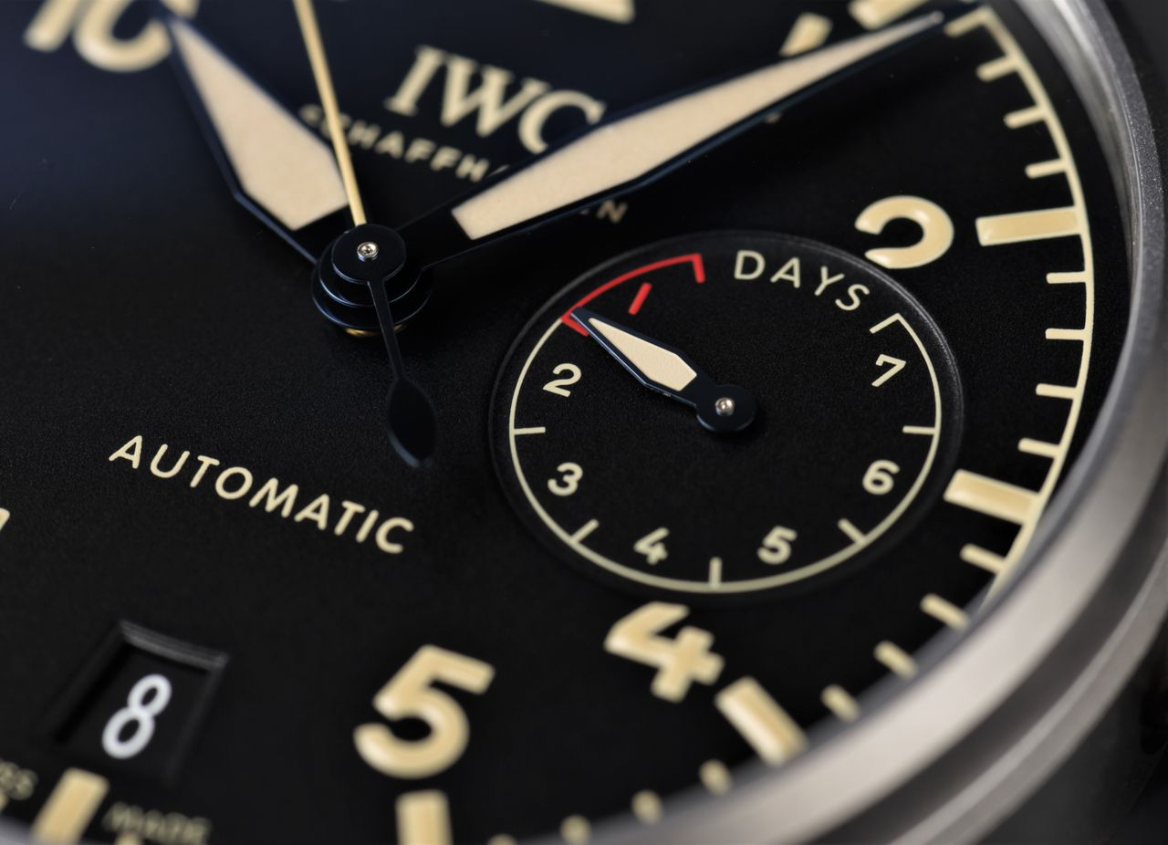 IWC Big Pilot's Watch Heritage - egy hétre való járástartalék / Fotó: Venicz Áron