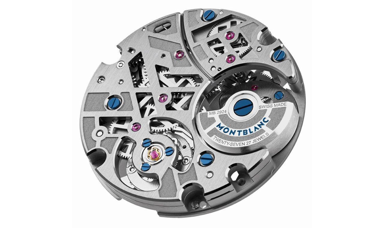 Montblanc Heritage Chronometrie Exo Tourbillon Slim Openworked - mindkét változatba a mikrorotoros, 48 óra járástartalékkal rendelkező MB 29.24-es kaliber került