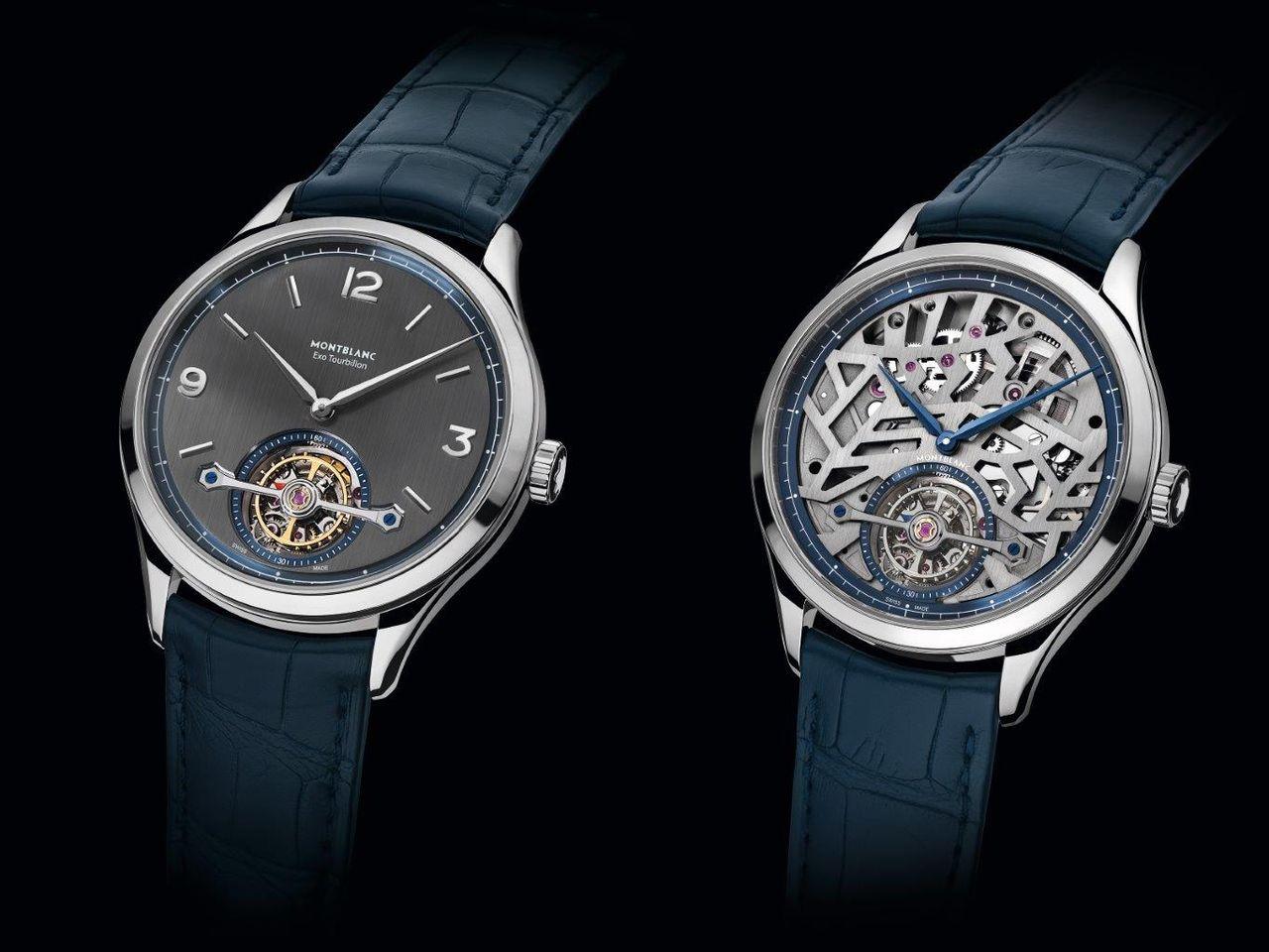 Montblanc Heritage Chronométrie Exo Tourbillon Slim és Openworked - tipikus példa arra, hogy egy számlap mennyire képes megváltoztatni két, minden más szempontból azonos órát