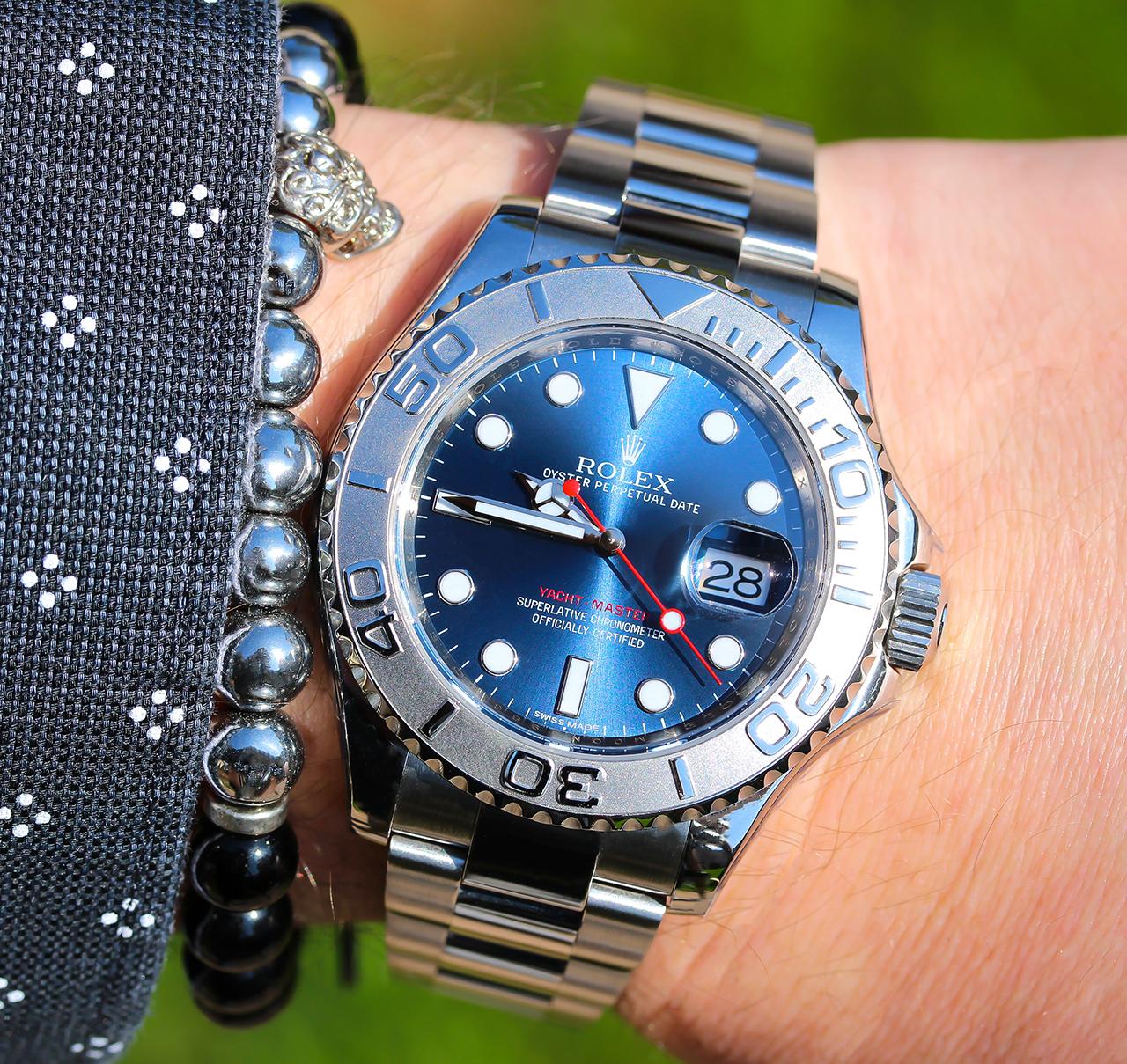 Rolex Yacht-Master 40 Blue eredeti fémcsattal - Fotó: @RetekG