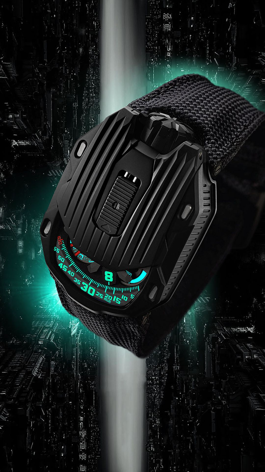 "Urwerk UR-105 CT Kryptonite - csukott ""pajzzsal"""