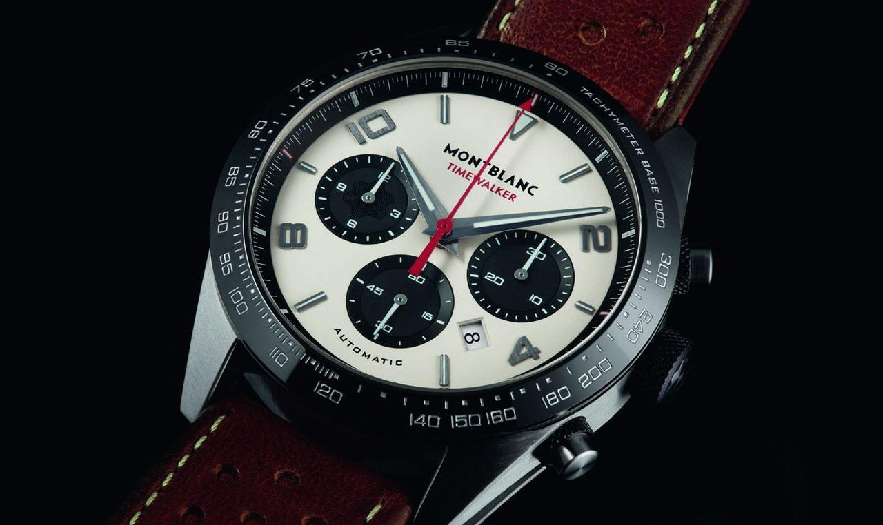 Montblanc TimeWalker Manufacture Chronograph - tipikus panda-számlap