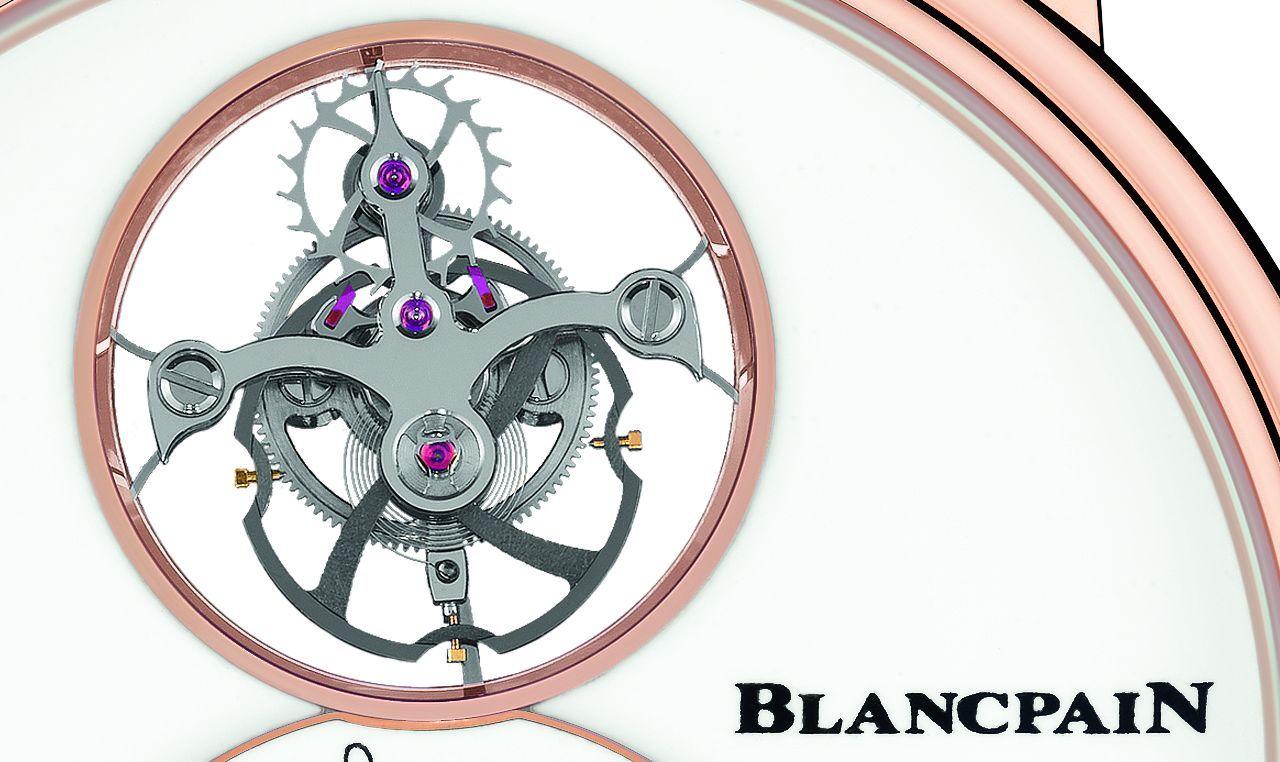 Blancpain Villeret Tourbillon Volant Heure Sautante Minute Rétrograde - látszólag a semmiben lebeg a tourbillon