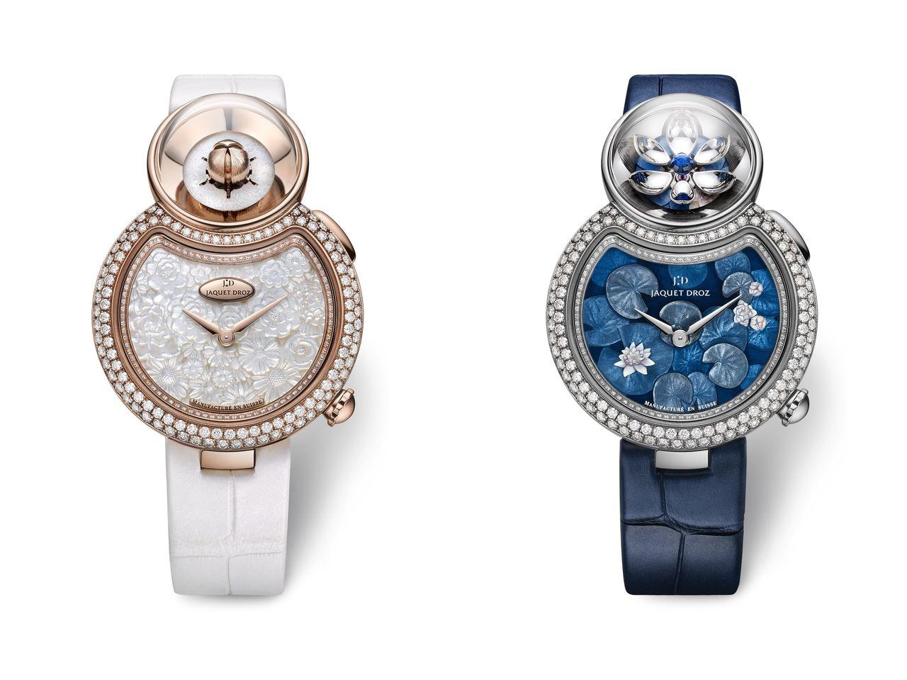 Jaquet Droz Lady 8 Flower - már női óráknál is kötelező a kék