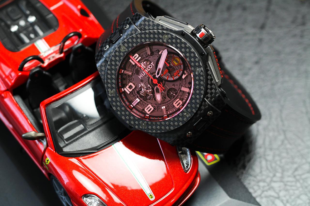 Hublot Big Bang Ferrari Carbon. Referencia száma: 401.QX.0123.VR Fotó: @RetekG