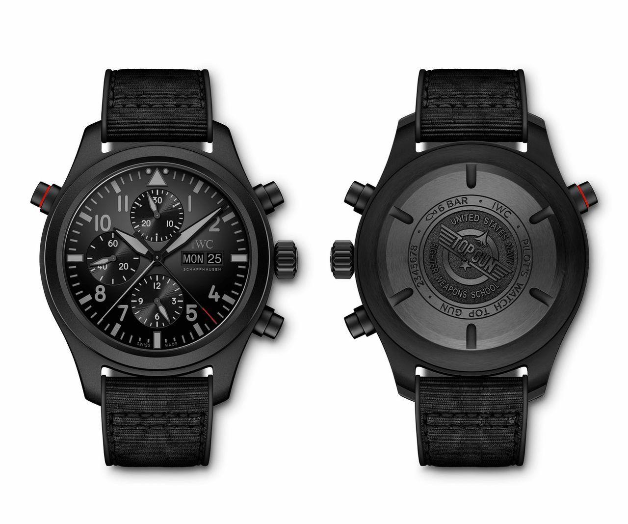IWC Pilot's Watch Double Chronograph TOP GUN Ceratanium - nagyobb, mint amilyennek tűnik