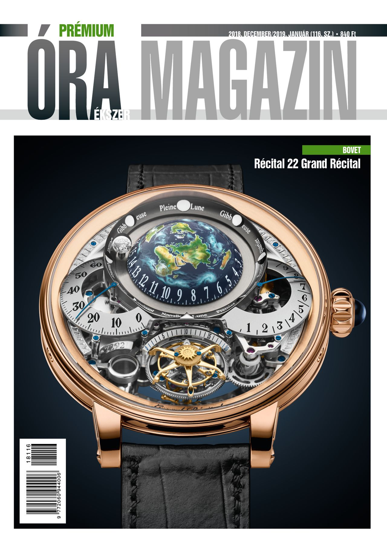 Prémium Óra Ékszer Magazin 116 (2018 december / 2019 január)