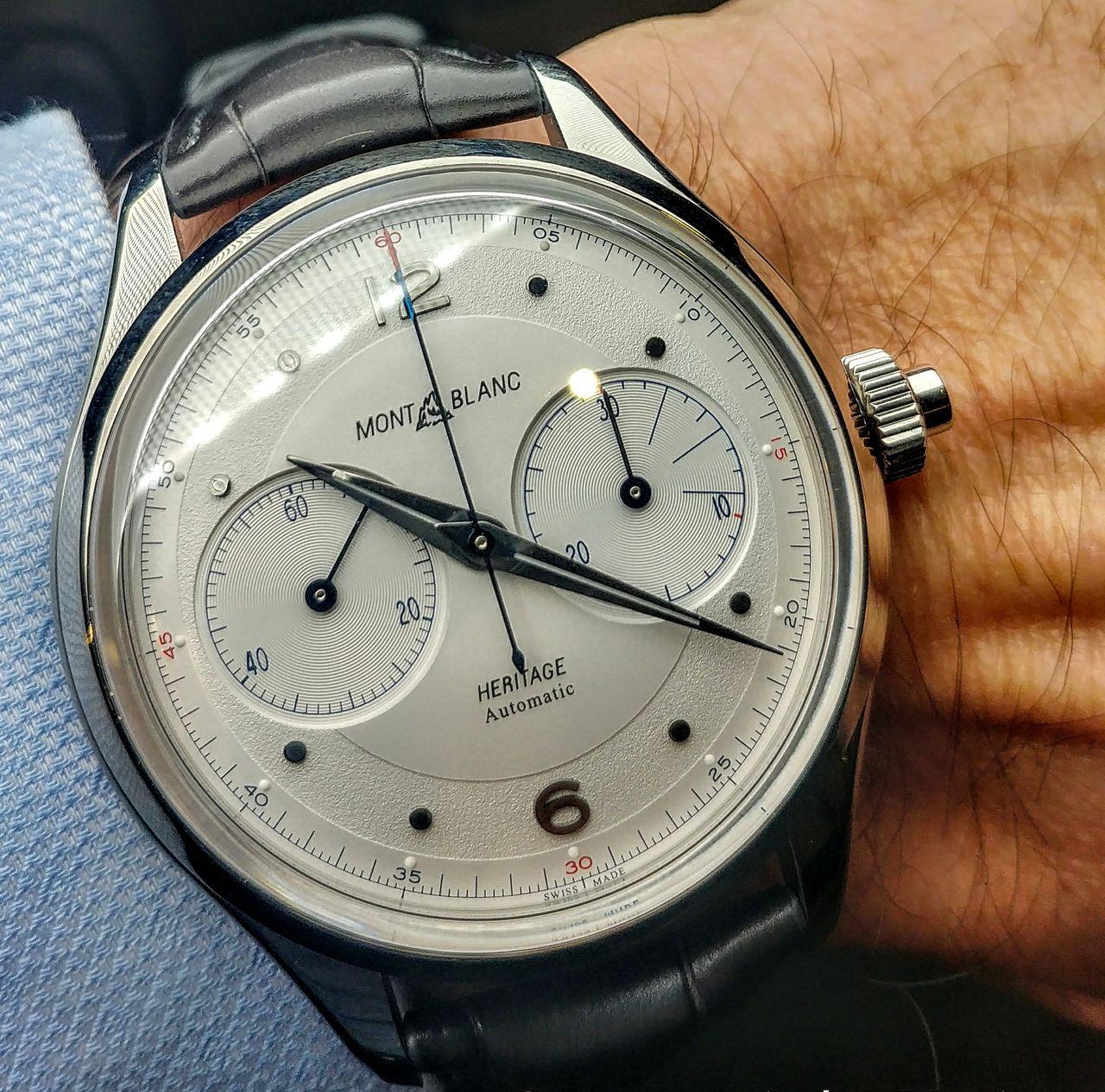 Montblanc Heritage Monopusher Chronograph - nagynak tűnik, pedig 42 mm az átmérője
