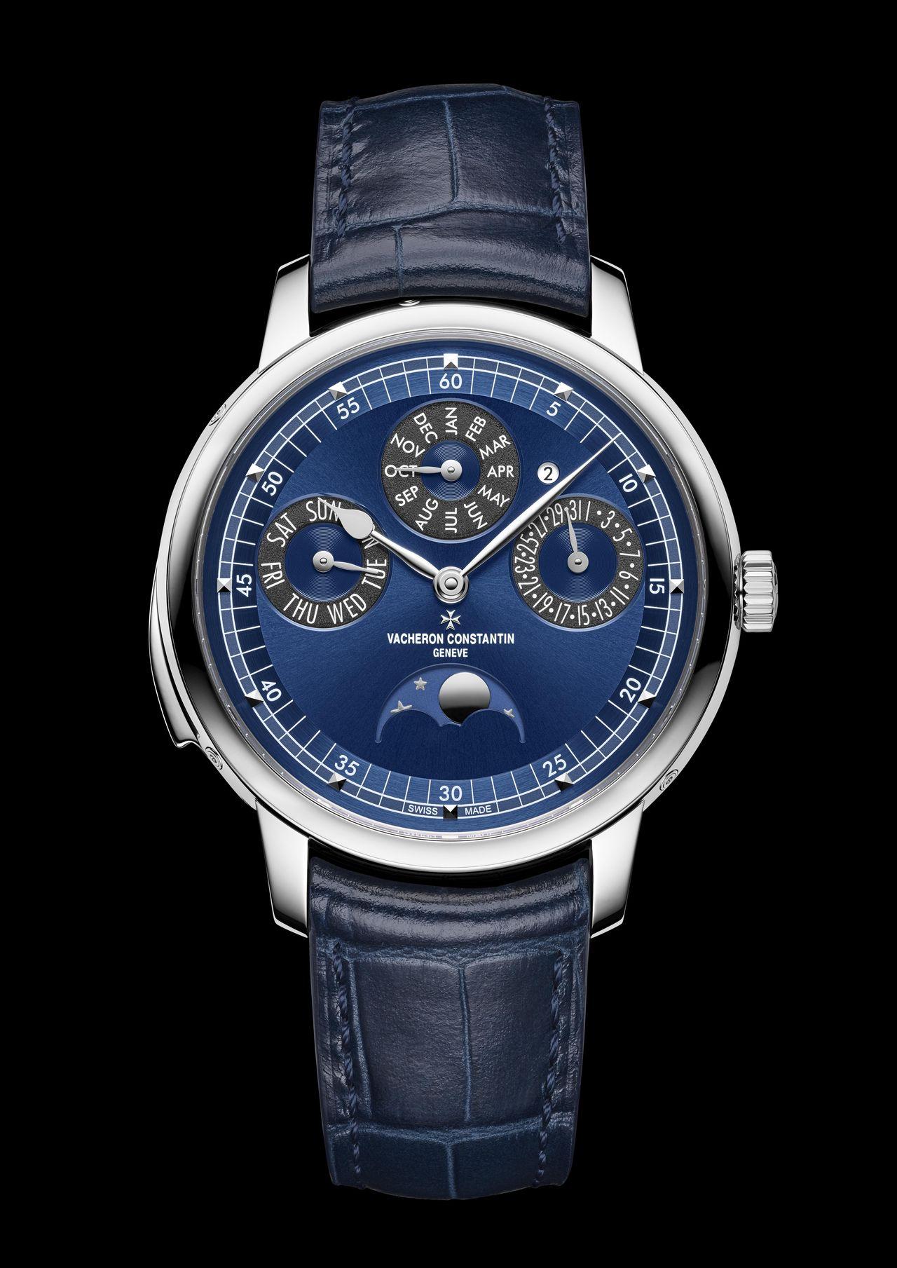 Vacheron Constantin Les Cabinotiers Minute Repeater Perpetual Calendar - természetesen kék, hiszen most bő 40 után újra ez divatos