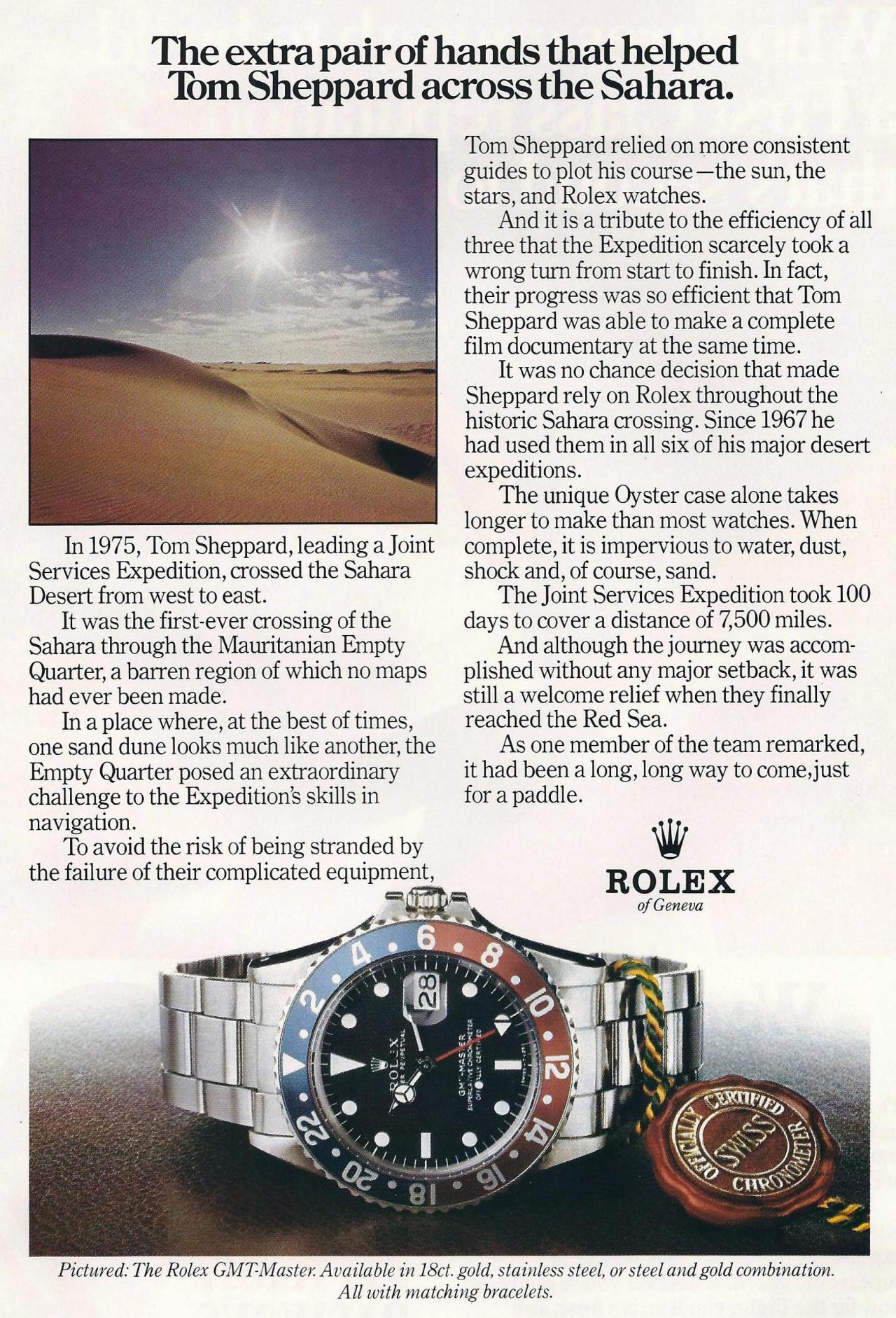 1978-ban már a Pepsi volt a sztár még a sivatagban is. Forrás: Rolexprintads