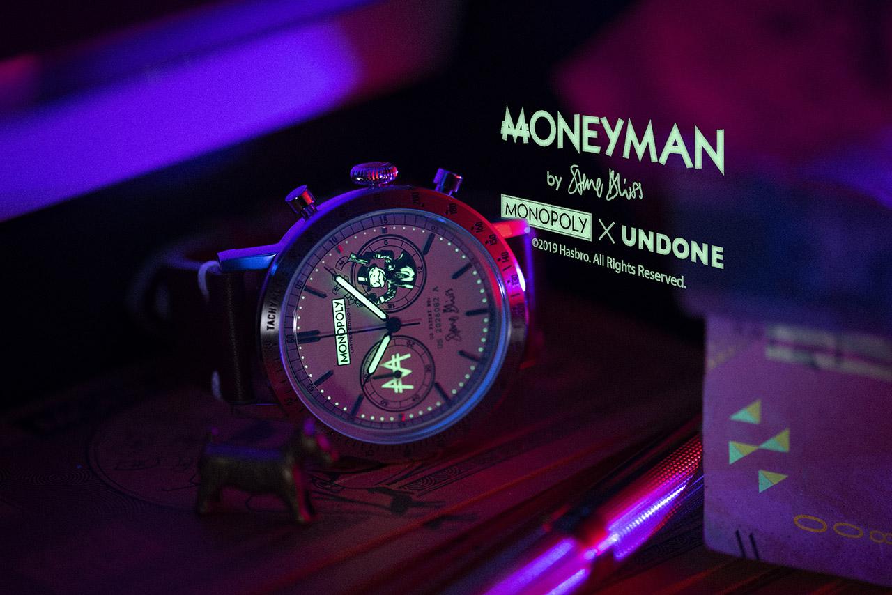 UNDONE X MONOPOLY MONEYMAN. The BENJAMIN. Fotó: UNDONE WATCHES