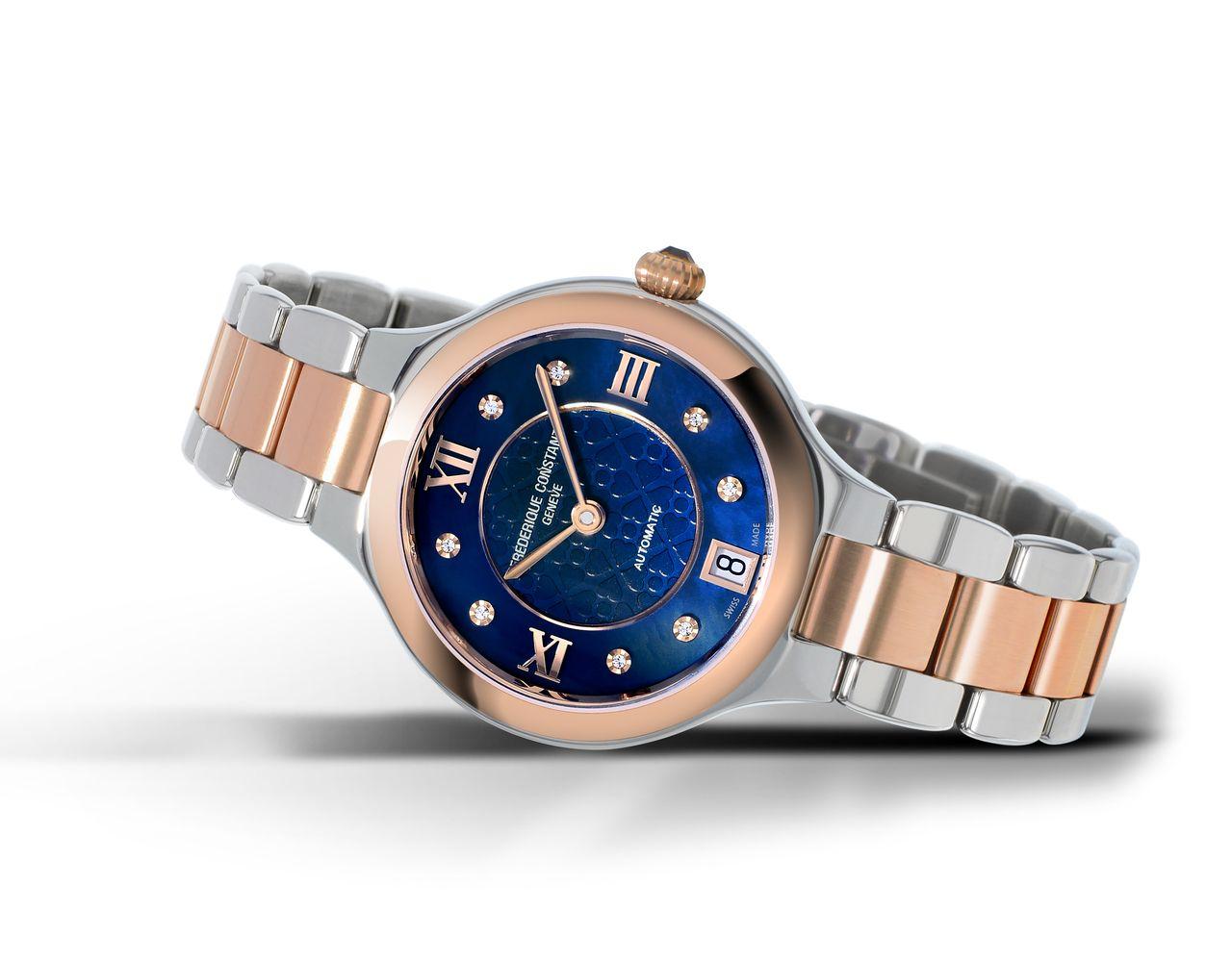 Frédérique Constant Classics Delight Automatic - acél-arany és kék, mindkettő keresett manapság