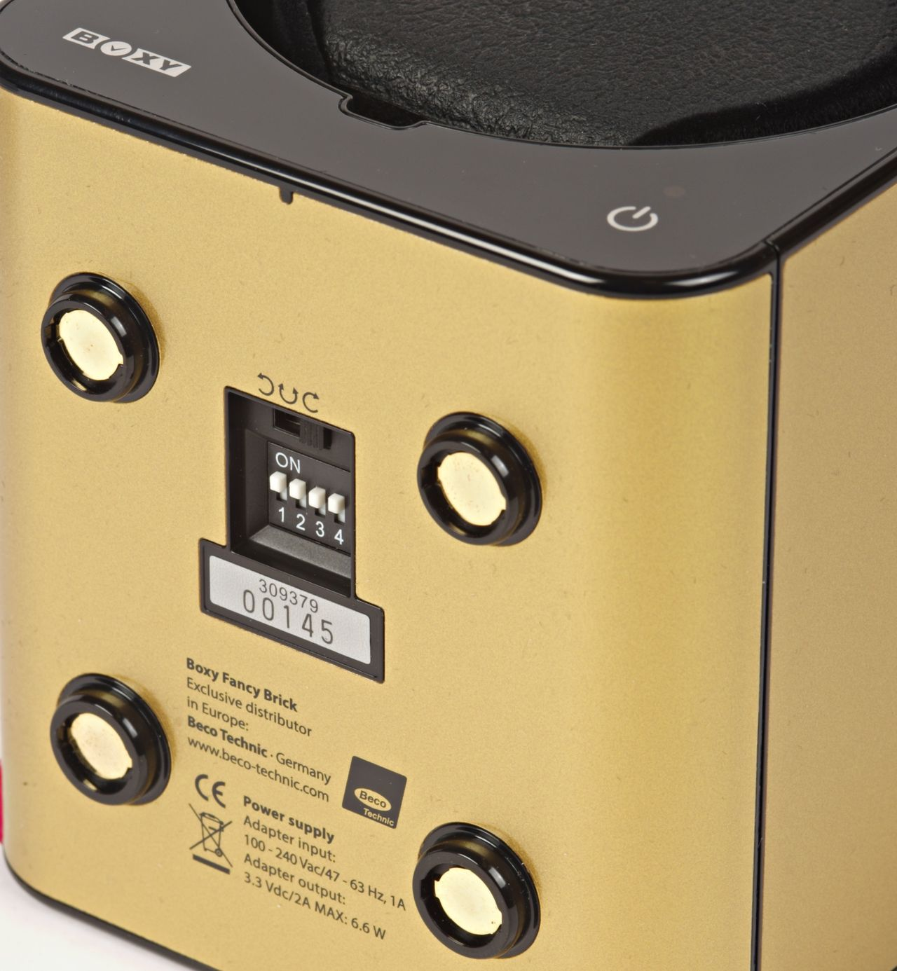 Boxy - mikrokapcsolókkal állítható a napi fordulat száma