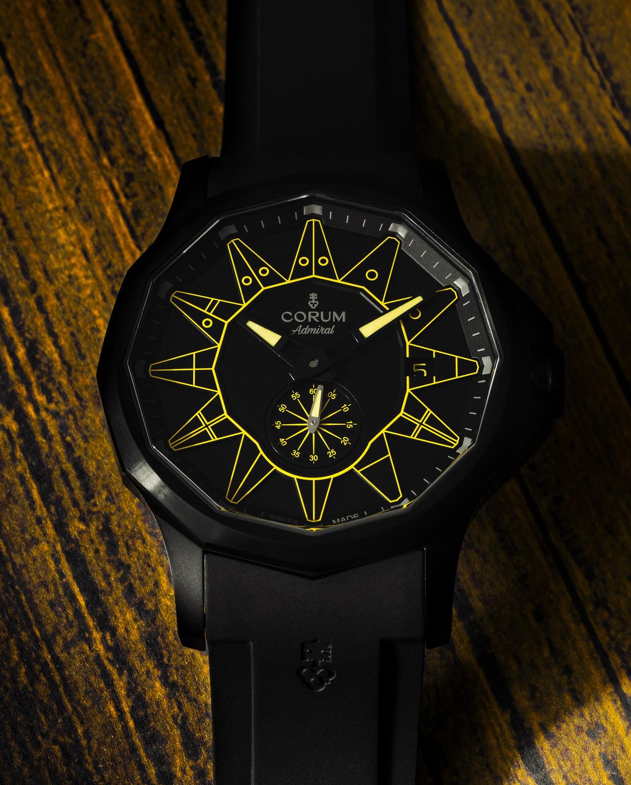 Corum Admiral 42 Automatic All Black - sárgával talán a legvidámabb