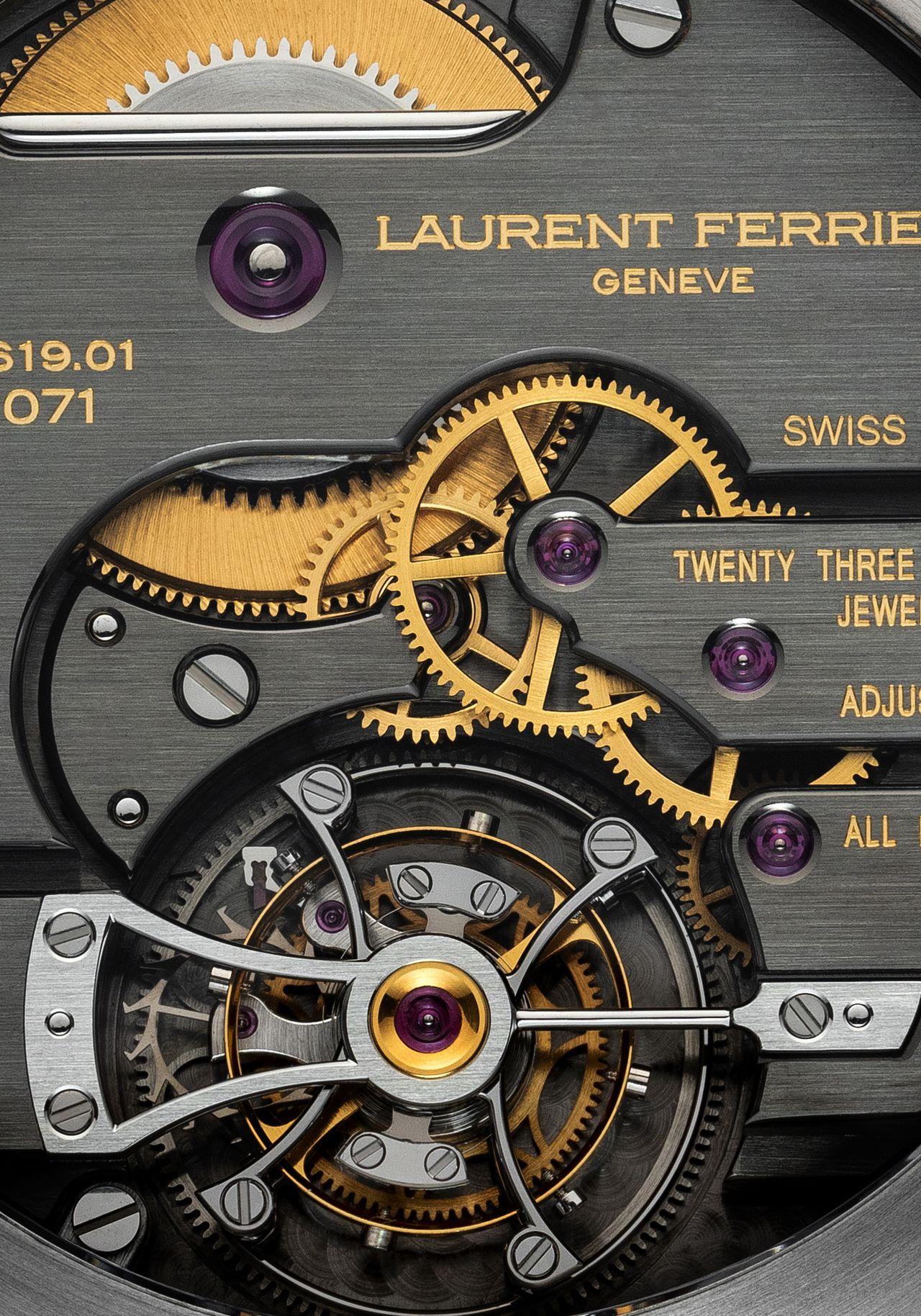 Laurent Ferrier Grand Sport Tourbillon - modern felület, klasszikus díszítés