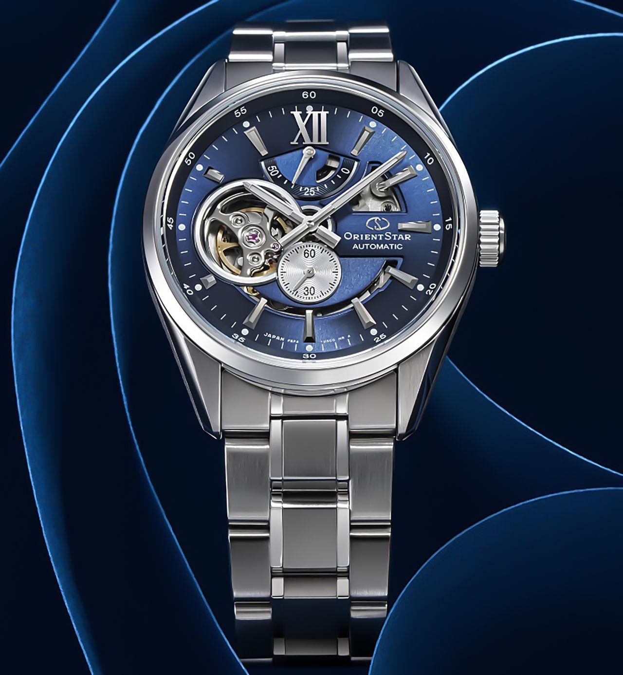 kapudrog - ORIENT STAR Mechanical Contemporary Watch, nyitott szívvel