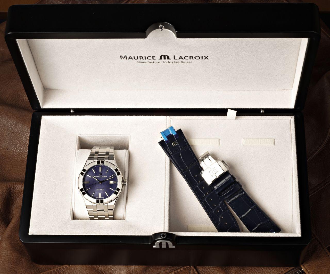 Maurice Lacroix Aikon Automatic - alapból kapjuk a bőrt is / Fotó: Venicz Áron