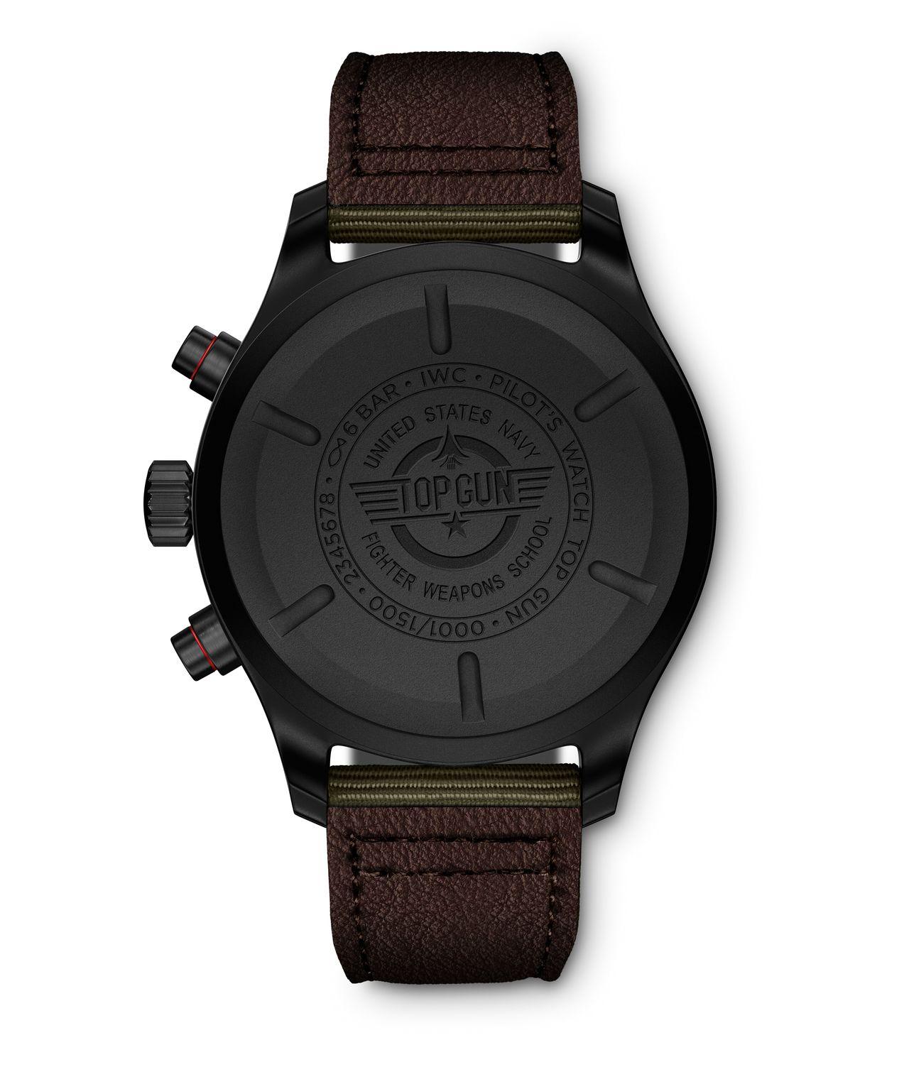 "IWC Pilot's Watch Chronograph Top Gun Edition ""SFTI"" - Hátlap Cerataniumból"