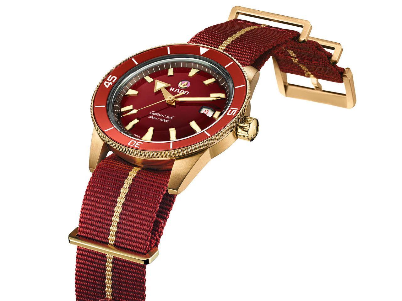 Rado Captain Cook Bronze Burgundy Automatic - szinte biztos, hogy nem csak NATO-szíj illene hozzá
