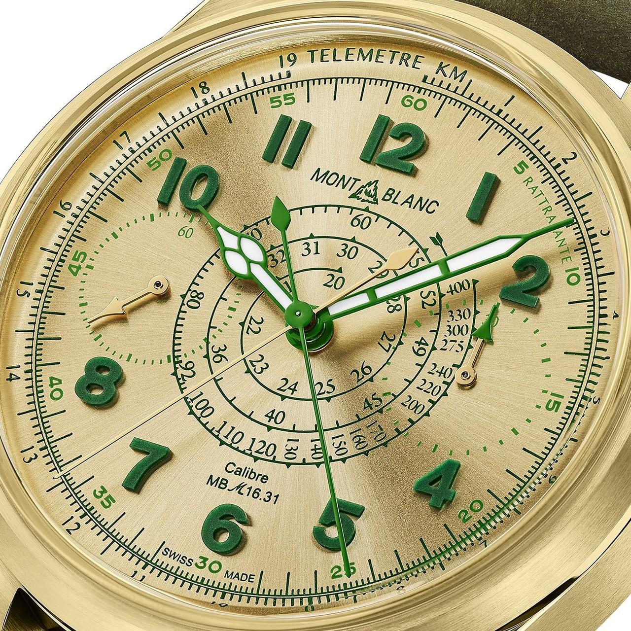 Montblanc 1858 Split Second Chronograph Lime Gold - zöld számlap másként