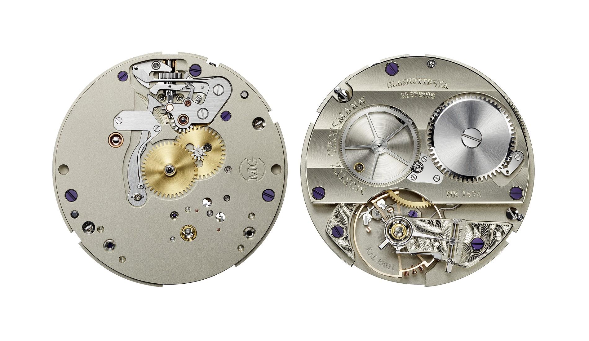 Moritz Grossmann Central Seconds - szerkezeti elemek alpakkából