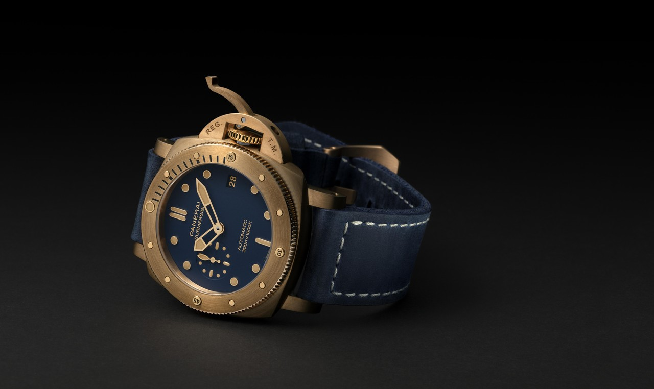 Officie Panerai Submersible Bronzo Blu Abisso