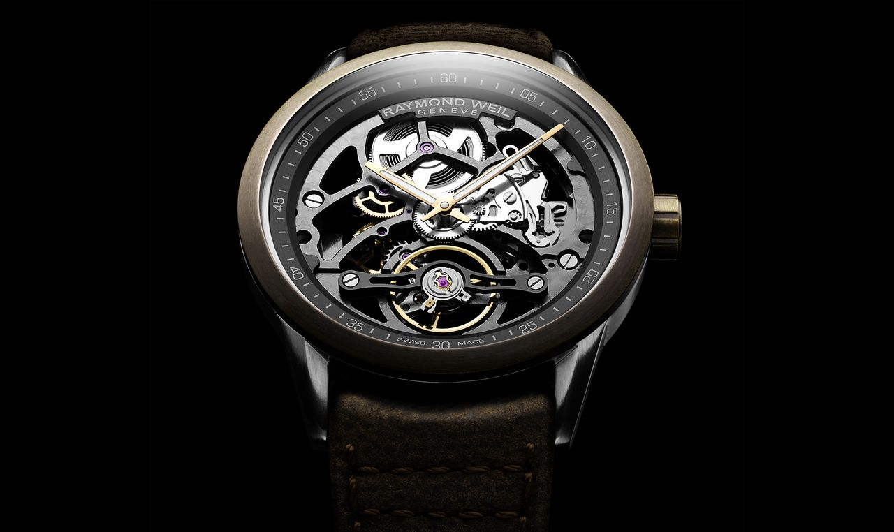 Raymond Weil Bronze Freelancer Skeleton Calibre RW1212