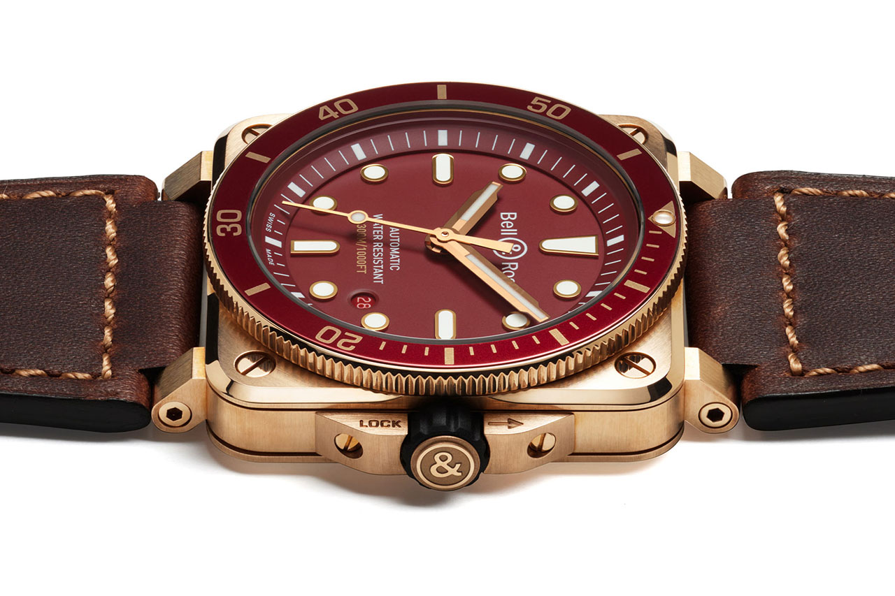 Bell & Ross BR 03-92 DIVER RED BRONZE Limited Edition. Referenciaszám: BR0392-D-R-BRSCA-1. Forrás: Bell & Ross
