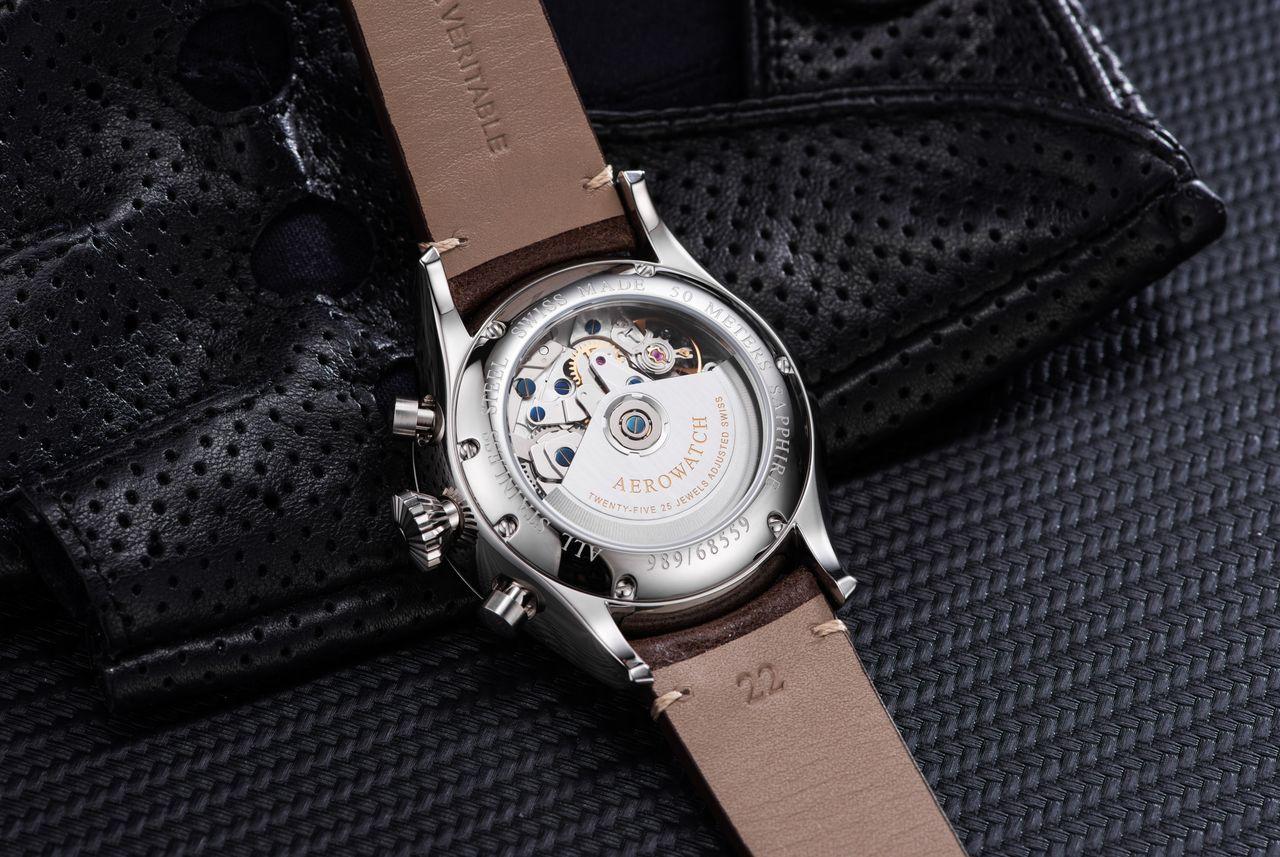 Aerowatch Les Grandes Classiques Chronograph Pilote - ismert kaliber díszített kivitelben