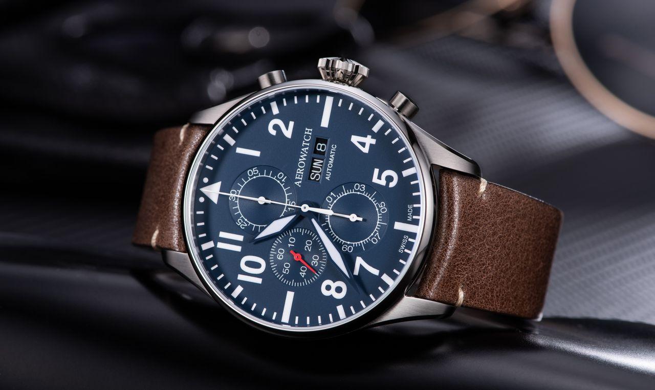 Aerowatch Les Grandes Classiques Chronograph Pilote