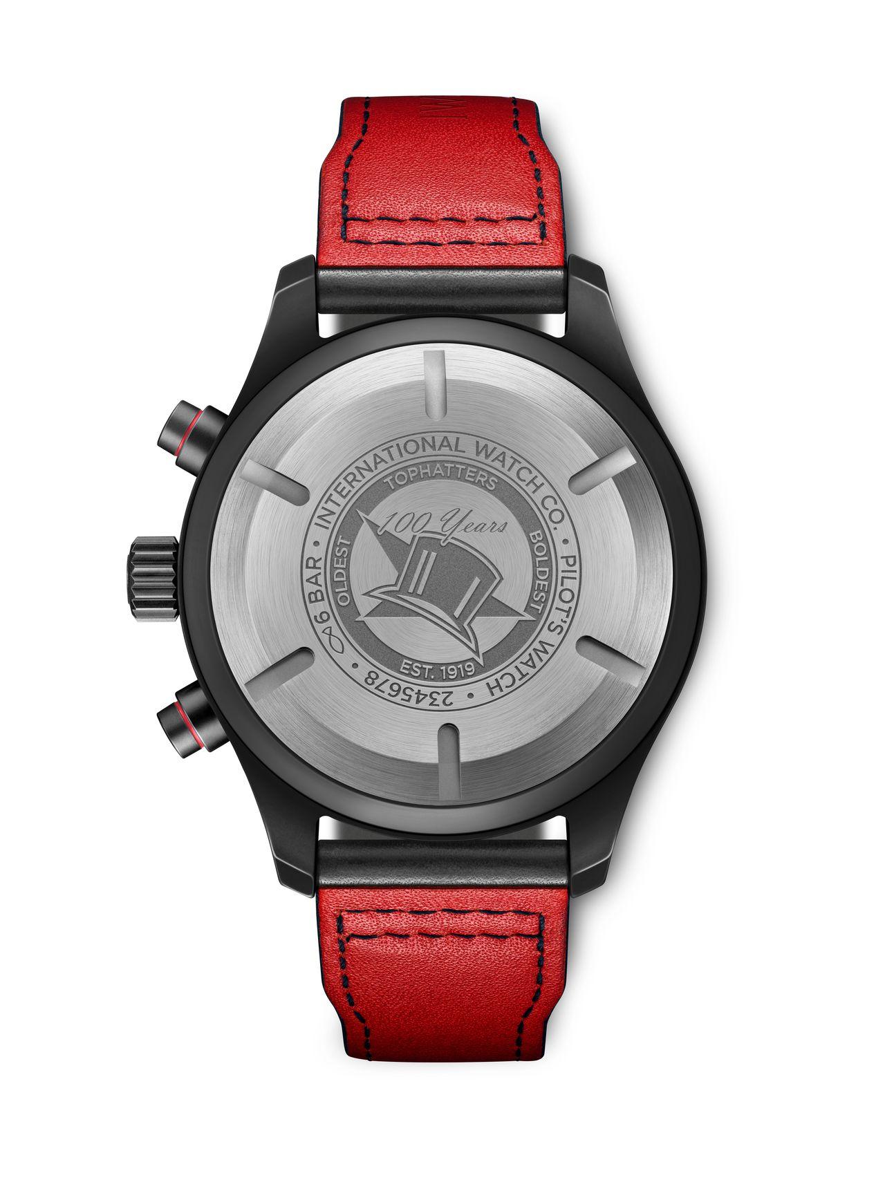 IWC Pilot's Watch Chronograph U.S. Navy Squadrons Editions - sajnos tömör a hátlap, de a lágyvas miatt amúgy sem látnánk a szerkezetet