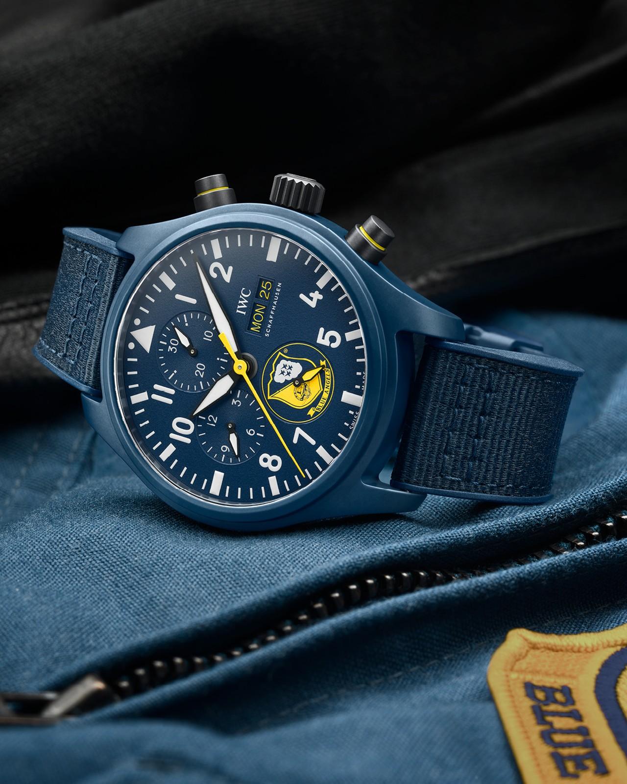 IWC Pilot's Watch Chronograph U.S. Navy Squadrons Editions - Blue Angels műrepülő kötelék órája