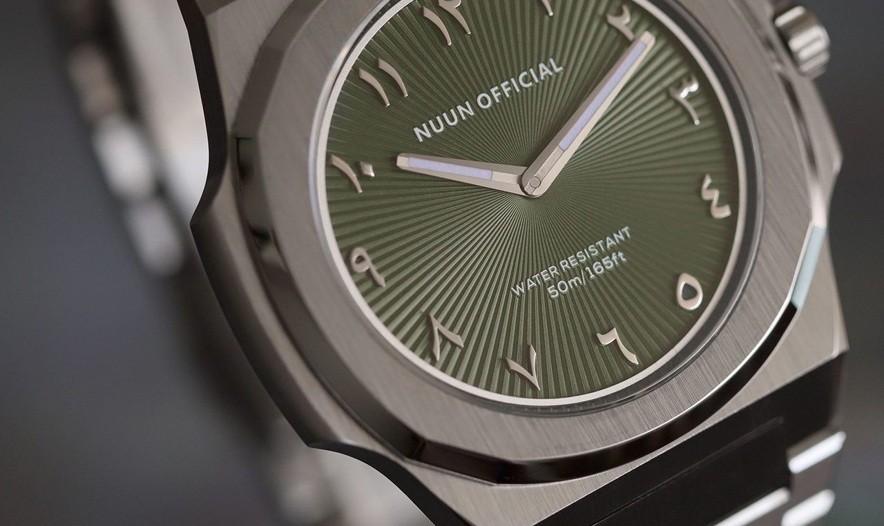NUUN OFFICIAL MONTRE SLIM 38mm SILVER GREEN
